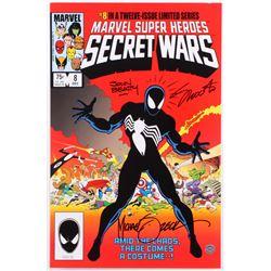 "Mike Zeck, Jim Shooter  John Beatty Signed Marvel ""Secret Wars"" 11x17 Photo (Legends COA)"