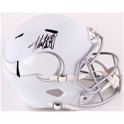 Adrian Peterson Signed Vikings Full-Size Matte White ICE Speed Helmet (Fanatics Hologram)