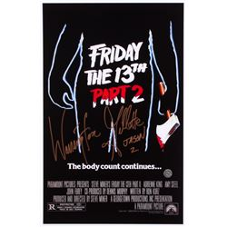 "Warrington Gillette Signed ""Friday the 13th Part 2"" 11x17 Movie Poster Photo Inscribed ""Jason 2"" (Le"