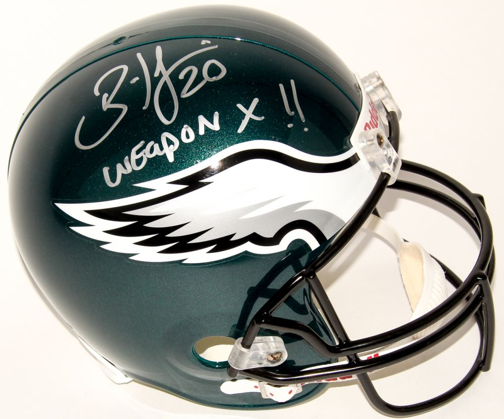390039252c9 Image 1 : Brian Dawkins Signed Eagles Full-Size Helmet Inscribed
