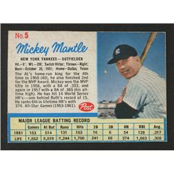 1962 Post #5A Mickey Mantle
