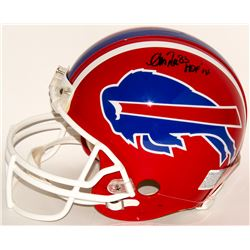 "Andre Reed Signed Bills Full-Size Authentic On-Field Helmet Inscribed ""HOF '14"" (Radtke COA)"