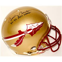 "Bobby Bowden Signed Florida State Seminoles Full-Size Authentic On-Field Helmet Inscribed ""'93-'99 N"