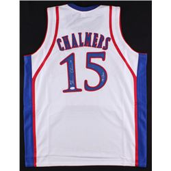 "Mario Chalmers Signed Kansas Jayhawks Jersey Inscribed ""08 Champs"" (JSA COA)"