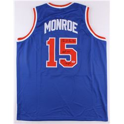 "Earl Monroe Signed Knicks Jersey Inscribed ""HOF 1990""  ""73 Champs"" (PSA COA)"
