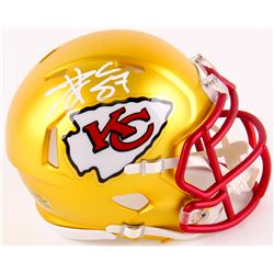 Travis Kelce Signed Chiefs Blaze Mini Speed Helmet (TSE COA)