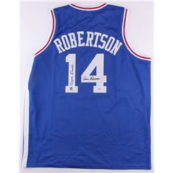 Oscar Robertson Signed Royals Jersey Inscribed  Mr. Triple Double  (PSA COA)