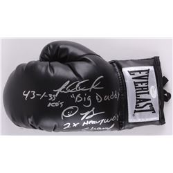 "Riddick Bowe Signed Everlast Boxing Glove Inscribed ""2x Heavyweight Champ"", ""HOF 2000"", ""Big Daddy"","