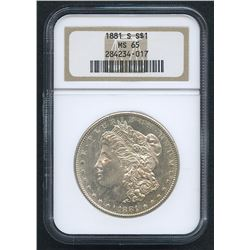1881-S Morgan Silver Dollar (NGC MS 65)