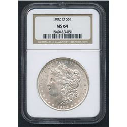1902-O Morgan Silver Dollar (NGC MS 64)
