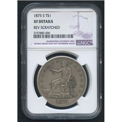 1875-S $1 Trade Silver Dollar (NGC XF Details)