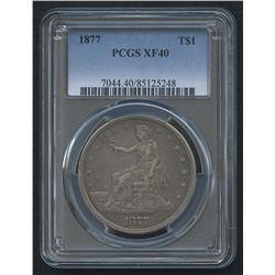 1877 $1 Trade Silver Dollar (PCGS XF 40)