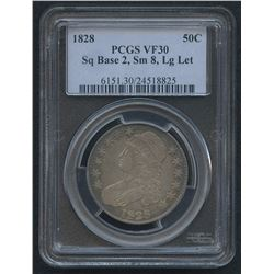 1828 50¢ Capped Bust Half Dollar (PCGS VF 30)