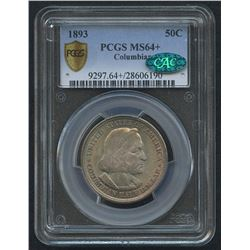1893 50¢ Columbian Commemorative Half Dollar (PCGS MS 64+) (CAC)
