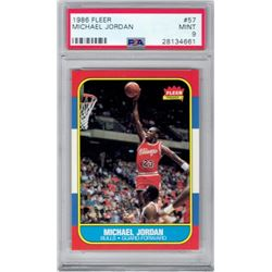 1986 Fleer #57 Michael Jordan RC (PSA 9)