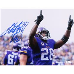 "Adrian Peterson Signed Vkings 11x14 Photo Inscribed ""God Bless"" (JSA COA)"