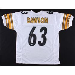 "Dermontti Dawson Signed Steelers Jersey Inscribed ""HOF 12"" (TSE COA)"