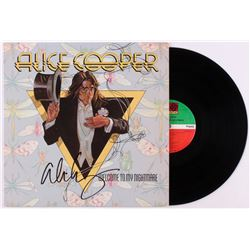 "Alice Cooper Signed ""Welome To My Nightmare"" Vinyl Record Album (JSA COA)"