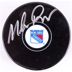 Mike Richter Signed Rangers Logo Hockey Puck (Steiner Hologram)