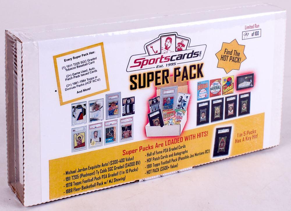 Sportscardscom Super Pack Sports Cards Mystery Box
