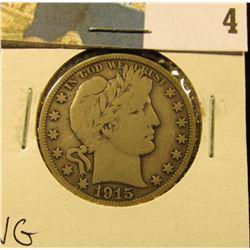 1915 S Barber Half Dollar, VG