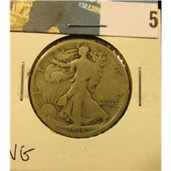 1916 P Walking Liberty Half Dollar, VG.