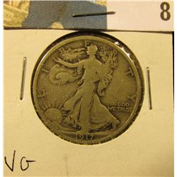 1917 P Walking Liberty Half Dollar, VG.