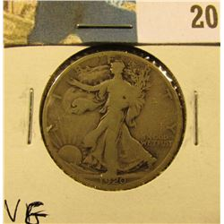 1920 D Walking Liberty Half Dollar, VG.