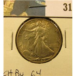 1940 P Walking Liberty Half Dollar, CH BU 64.