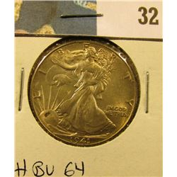 1941 P Walking Liberty Half Dollar, CH BU 64.