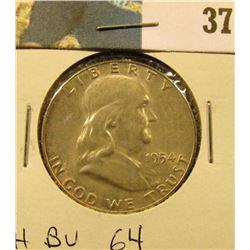 1954 P Franklin Half Dollar. CH BU 64.