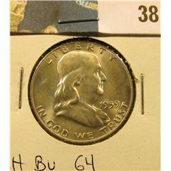 1959 P Franklin Half Dollar. CH BU 64.