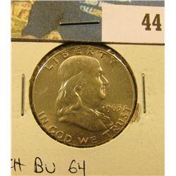 1963 P Franklin Half Dollar. CH BU 63.