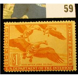1944 RW11 U.S. Federal Migratory Waterfowl Stamps, Unused, OG, Hinged.