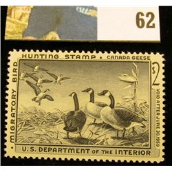 1958 RW25 U.S. Federal Migratory Waterfowl Stamps, Unused, OG, not hinged, VF.