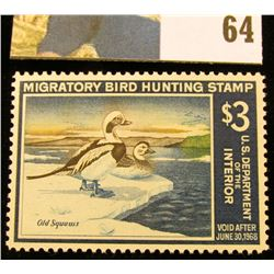 1967 RW34 U.S. Federal Migratory Waterfowl Stamps, Unused, OG, hinged, VF