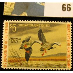 1972 RW39 U.S. Federal Migratory Waterfowl Stamps, Unused, OG, NH. EF.