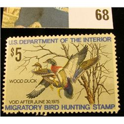 1974 RW41 U.S. Federal Migratory Waterfowl Stamps, Unused, OG, NH. EF.
