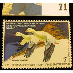 1977 RW44 U.S. Federal Migratory Waterfowl Stamps, Unused, OG, NH. EF.