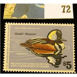 1978 RW45 U.S. Federal Migratory Waterfowl Stamps, Unused, OG, NH. EF.
