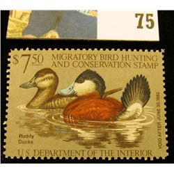 1981 RW48 U.S. Federal Migratory Waterfowl Stamps, Unused, OG, NH. VF.