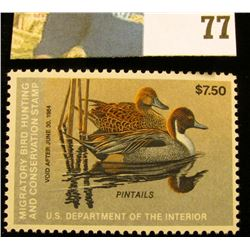 1983 RW50 U.S. Federal Migratory Waterfowl Stamps, Unused, OG, NH. VF.