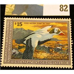 1992 RW59 U.S. Federal Migratory Waterfowl Stamps, Unused, OG, NH. EF.