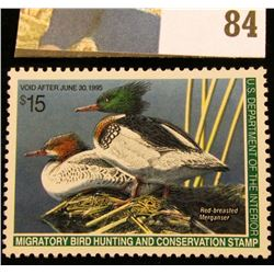 1994 RW61 U.S. Federal Migratory Waterfowl Stamps, Unused, OG, NH. EF.