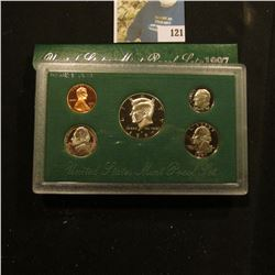 1997 S Deep Mirror Cameo U.S. Proof Set. Original as issued. Five-piece Set.