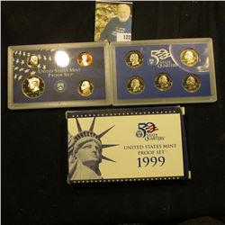 1999 S Deep Mirror Cameo U.S. Proof Set. Original as issued. Nine-piece Set.