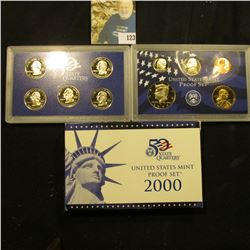 2000 S Deep Mirror Cameo U.S. Proof Set. Original as issued. Ten-piece Set.