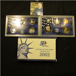 2002 S Deep Mirror Cameo U.S. Proof Set. Original as issued. Ten-piece Set.