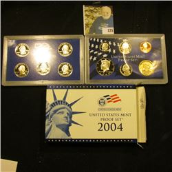 2004 S Deep Mirror Cameo U.S. Proof Set. Original as issued. Eleven-piece Set.