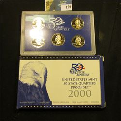 2000 S Five-Piece Statehood U.S. Quarter Proof Set. Original as issued. Five-piece Set.